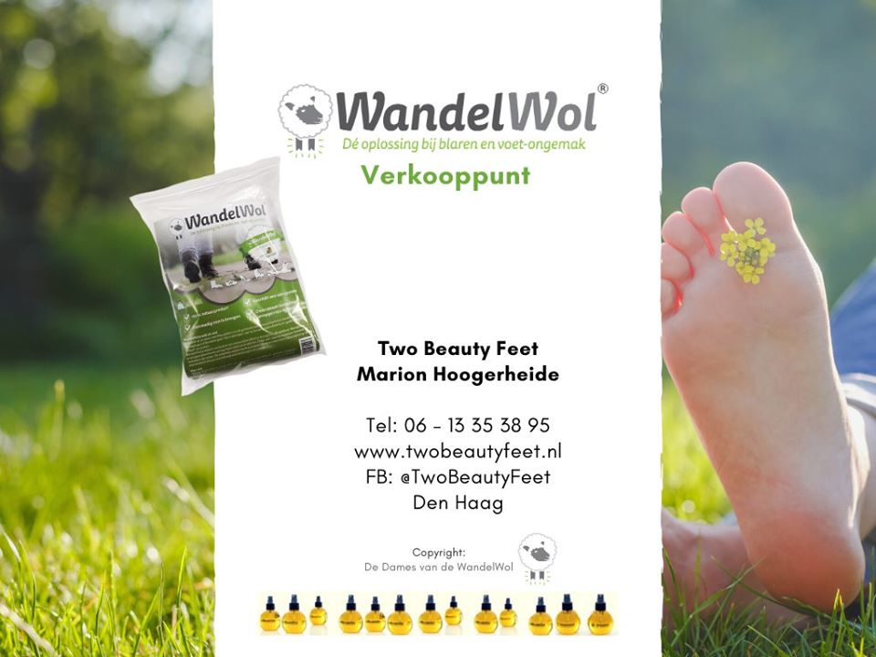 Wandel Wol bij medisch pedicuren two beauty feet